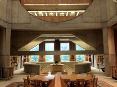 Interior View of the Phillips Exeter Academy Library, Exeter NH, Architect - Louis I. Kahn