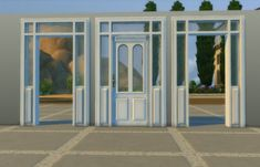 Lattice Door and Arch by AdonisPluto at Mod The Sims via Sims 4 Updates