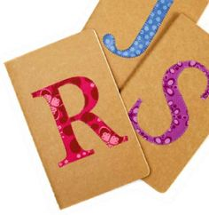 A Spoonful of Sugar: Teen Craft: Monogrammed Notebooks