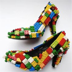 lego heels- I would never really wear them, but I think its funny and I love it