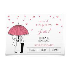 Save-the-Date Es regnet Herzen in Rose - Postkarte flach #Hochzeit #Hochzeitskarten #SaveTheDate https://www.goldbek.de/hochzeit/hochzeitskarten/save-the-date/save-the-date-es-regnet-herzen?color=rose&design=9020f