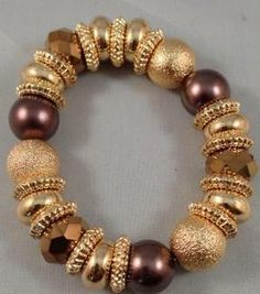 Image of Gold, Brown and Bronze Bracelet