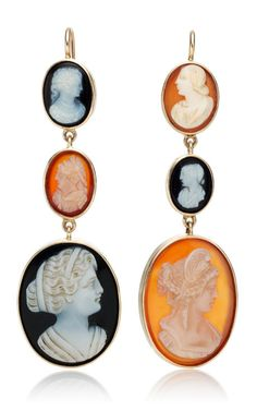 One of a Kind Vintage Cameo Earrings from Camilla Dietz Bergeron