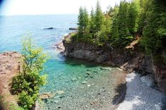 From http://mingle8.wordpress.com/presqueisle1/.  Black Rocks on Presque Isle.  Great place to swim and for the brave (not myself) cliff jump.