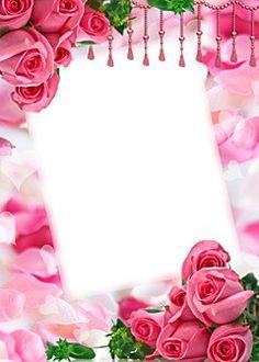Birthday Photo Frame, Happy Birthday Frame, Birthday Frames, Flower Picture Frames, Flower Frame, Flower Photos, Wallpaper Nature Flowers, Flower Backgrounds, Molduras Vintage