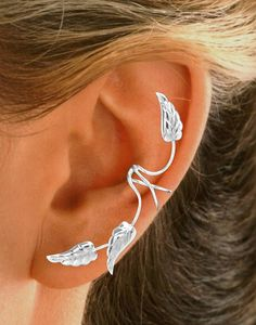 Full Ear Ear Cuff in Sterling Silver with Rhodium for non-tarnish. © Ear Charms™ Inc. 2008 Sandra Callisto designer #earcuff #earwraps #earcharms