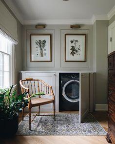 Beautiful Interior Design, Beautiful Interiors, Interior Inspiration, Room Inspiration, Do It Yourself Inspiration, Laundry Room Design, Laundry Area, Laundry Storage, Small Laundry