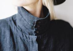Ouur | Men's Linen Button Turtleneck Shirt