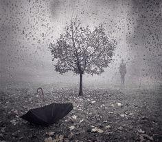 Resultado de imagen para Lluvia, Mujer y pájaros, imágenes