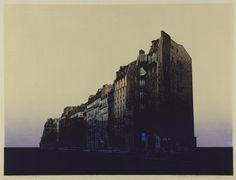 "Hotaka Yoshida ""Ciudad P"" Hodaka Yoshida Hiroshi Yoshida, Woodblock Print, Willis Tower, Contemporary Artists, Printmaking, New York Skyline, Japanese, Sculpture, Architecture"