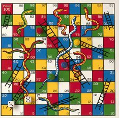Chutes And Ladders Game Board Template Classical snakes and ladders Childhood Games, My Childhood Memories, Old Fashioned Games, Wooden Board Games, Vintage Board Games, Photo Images, Traditional Games, My Memory, Old Toys
