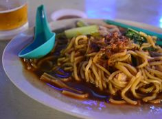 Malay Hokkien Mee Noodles at Red Garden Food Parade, Penang, Southeast Asia. For full blog on Red Garden Food Paradise in Georgetown Penang check our blog http://live-less-ordinary.com/southeast-asia-food/red-garden-food-paradise-georgetown-penang
