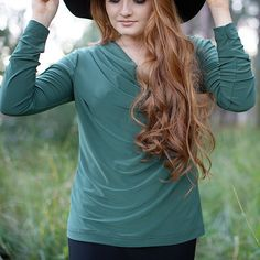 Features a pleated cowls neck with long sleeves. Cowl Neck, Long Sleeve, Sleeves, Tops, Women, Fashion, Moda, Women's, Fashion Styles