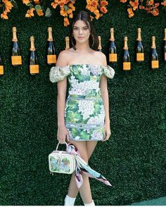 Kendall Jenner wearing Dolce & Gabbana at Cliquot Polo Classic June 2017