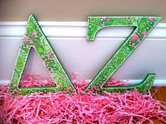 $25.99 Every DZ needs a beautiful pair of letters for her place.