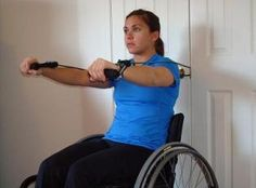 Resistance band workout for wheelchair users... not the most creative but maybe a good HEP?