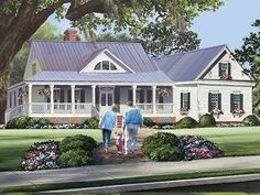 ePlans Low Country American House Plan – Low Country With Extraordinary Wrap-Around Porch – 2010 Square Feet and 3 Bedrooms from ePlans – House Plan Code HWEPL77596