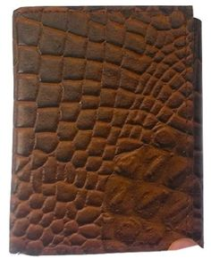 Men's HANDMADE Crocodile Alligator Pattern GENUINE LEATHER Black Brown Tri-fold ID WALLET *** Check out this great product. (This is an Amazon Affiliate link and I receive a commission for the sales)