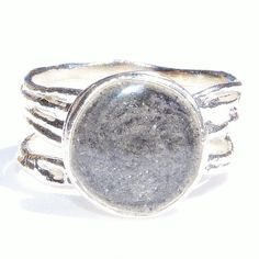 Textured Band Cremation Ring, this ring is .925 sterling silver with a round 10mm opening where your loved one's ashes are solidified in.