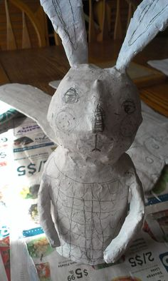 Paper mache with materials that are easily accessible for teachers.