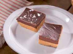 Peanut Butter Bars with Salted Chocolate Ganache recipe from Nancy Fuller via Food Network