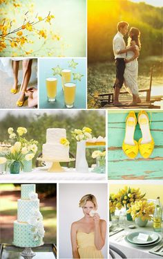 mint and yellow for my wedding colors...yep I'm in love! :)