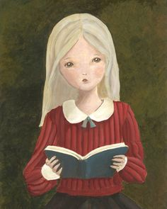 Portrait of a Girl Reading a Book No. 3 8x10 Print. $ 22.00, via Etsy.