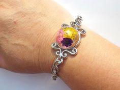 Annys workshop手作押花飾品,典雅的小星花手鍊, Handmade Bracelet