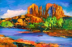 Cathedral Rock Afternoon Painting by Elise Palmigiani