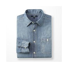 MEN Chambray Long Sleeve Shirt