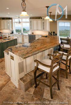 kitchen island - foot rests!