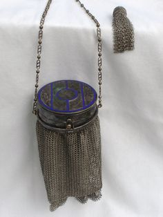 Antique Purse with Compact.