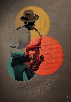 Tableau / poster / affiche so-jazz by 321start. Numéroté et limité à 200 exemplaires.