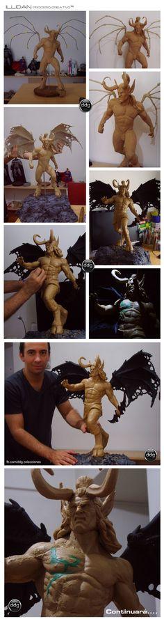 Illidan - Warcraft sculpt WIP by ddgcom.deviantart.com on @deviantART