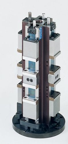 ClusterLock 50mm Towers - (CT2DC4B) - HD CarvLock Towers are designed for use on mid-size and larger machining systems, including horizontal and vertical systems with a fourth axis and index tables. HD Towers are designed to provide maximum workpiece immobility and damp cutter induced vibration. - http://www.kurtworkholding.com/clustertower-double-manual-vise-p-1121-l-en.html