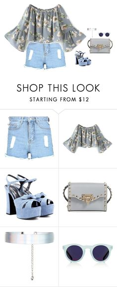 """#3931"" by azaliyan ❤ liked on Polyvore featuring Boohoo, Yves Saint Laurent, Valentino, Accessorize and Topshop"