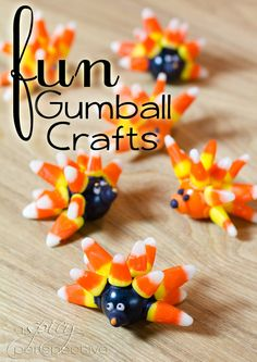Gumball Food Craft: Edible Gifts | ASpicyPerspective.com #KidFriendly #Halloween #EdibleGifts #Gumballs