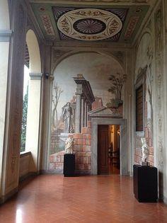 Loggiato della Villa Medicea di Cerreto #TuscanyAgriturismoGiratola Florence Tuscany