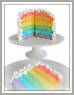 Pinks & Needles: Rainbow Layer Cake Recipe