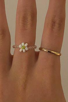 Cute Jewelry, Diy Jewelry, Beaded Jewelry, Jewelery, Jewelry Accessories, Women Jewelry, Stil Inspiration, Accesorios Casual, Cute Rings