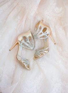 Gold & silver gorgeous bridal shoes