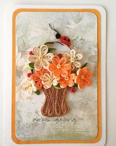 #quillingcards#quillingcreations #quillingcraft #quillingflowers #paperflowers #papercraft #handmadecards #hanndmadeflowers #квиллингцветы…