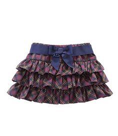 Ralph Lauren Childrenswear Tartan Pull On Ruffle Skirt