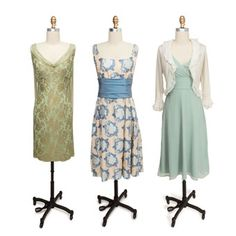 Mother of the bride dresses. The one on the center and then the one on left would be perfect for my mom.