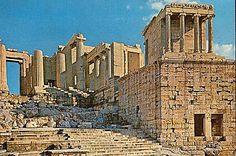Estado de los Propileos a comienzos del siglo XXI. Acrópolis ateniense.
