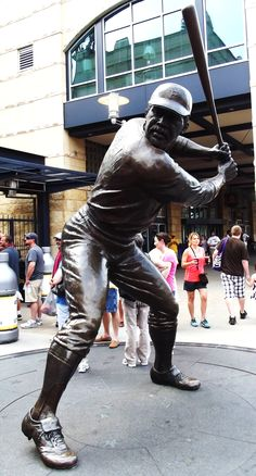 """""""Pops"""" Stargell statue at PNC Park. Baseball Park, Pirates Baseball, Baseball Players, Pittsburgh Sports, Pittsburgh Pirates, Pnc Park, Roberto Clemente, My Kind Of Town, Penguins"""
