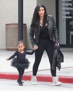 North West Photos - Kim and Kourtney Kardashian Take Their Daughters to Dance Class - Zimbio