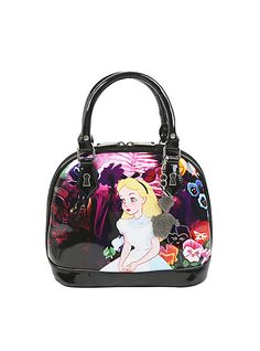 4e2670c8ed Loungefly Disney Alice In Wonderland Flowers Limited Edition Dome  BagLoungefly Disney Alice In Wonderland Flowers Limited Edition Dome Bag