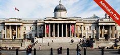 The National Gallery, Londrés. Fue fundada en 1824 tiene una colección de más de 2,300 pinturas que datan de mediados del siglo XIII a 1900.