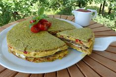 Crespeou provençal Omelettes, Direction, Picnic, Breakfast, Food, Homemade Pesto, Grilled Bell Peppers, Cherry Tomatoes, Food Recipes